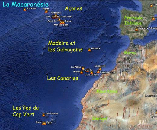 (La Macaronésie – les Canarie et les Açores – présentent encore  quelques vestiges de cette civilisation disparue.)