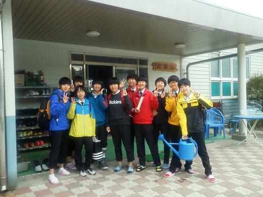 龍湖高校テコンドー部女子選手