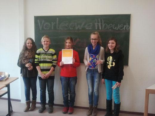 v.l.n.r.: Anna-Lena, Bennet, Sarah, Nadine, Melanie