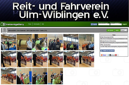 Bilder im Fotoalbum des  R&FV Ulm-Wiblingen