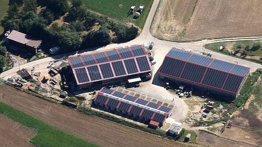 Der Pferdehof in Albershausen                                                . . . . . . . . . . .     Quelle: Google Satelit