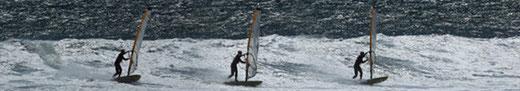 »TIPP: Um die Vorlage des Körpers und den Einsatz des Körpergewichts zur Boardsteuerung zu üben, kann man auf Flachwasser Carving 360 üben