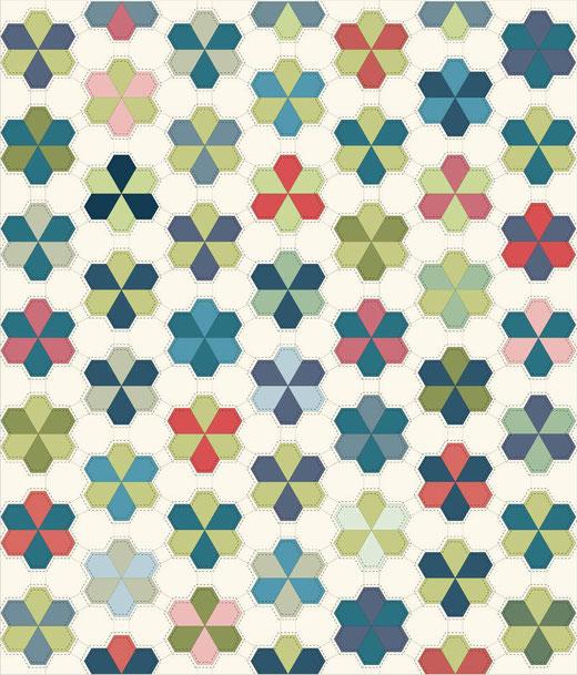 English Paper Piecing Juwelblüte Jewel