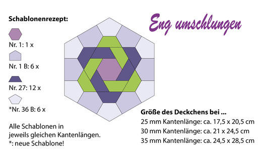 Eng umschlungen, English Paper Piecing