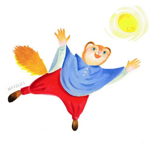 モモンガくん 新しい年にに向かって飛ぶ!
