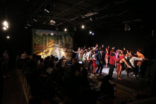 2018年10月、長野県上田市犀の角劇場主「PAYO-棚田をめぐる物語」公演