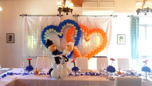 Bezaubernde Ballondekoration für Hochzeiten