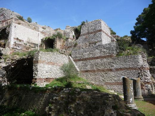 Die Ruine der Tiberius-Villa, auch Villa Jovis genannt