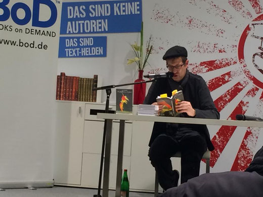 Lars Gebhardt Books On Demand Lesung, EKZ Hamburger Meile 30.01.15