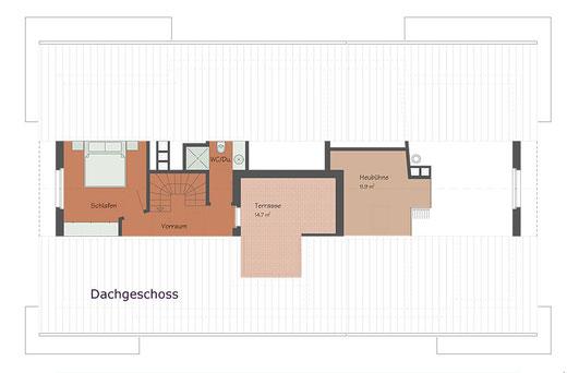 """Ferienwohnung """"La Foppa"""", Dachgeschoss mit Dachterrasse (Links)"""
