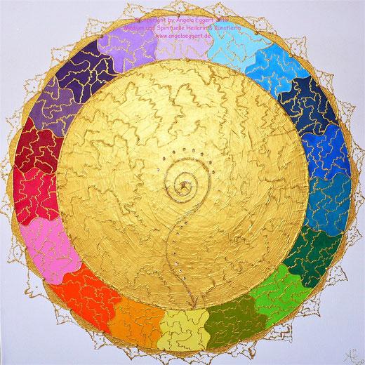"""Goldenes Engelmandala """"Aus der Mitte entspringt ein Fluss - Atlantis-Magie"""" ... Die absolute Kraft, das pure Licht und eine magische Wirkung! ❤ Im Shop erhältlich!"""