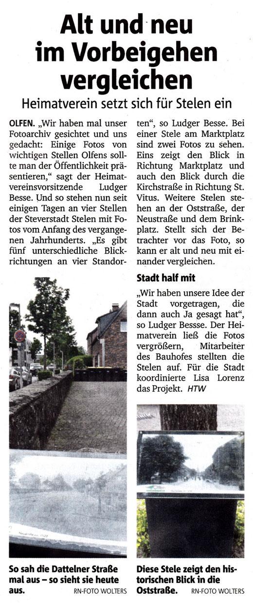 Bericht der Ruhr Nachrichten vom 27.05.15