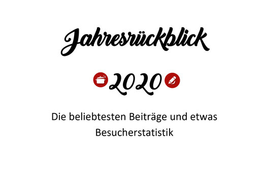 Jahres-Rückblick 2020  - Organisation mit Sabine