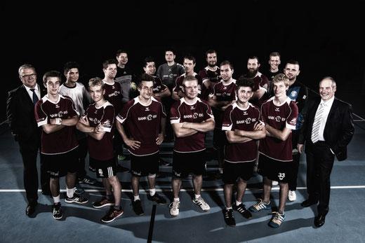 Das Herrenteam der HG Bödeli ist bereit für die kommende Saison. Bild: Häsler Foto Video