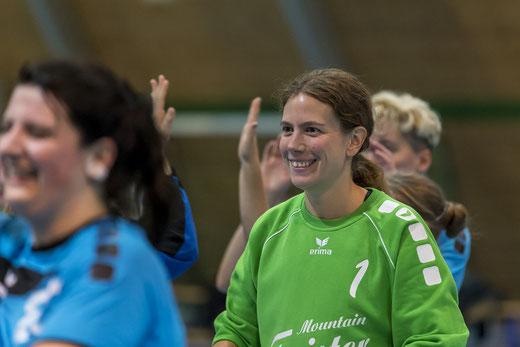 Die HGB-Damen konnten trotz klarer Niederlage viel Positives aus der Partie gegen Visp mitnehmen (im Bild Torhüterin Caroline Schnyder). Archivbild: Ueli von Allmen