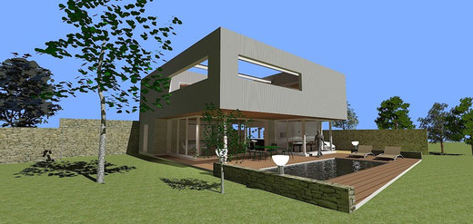 Mod le royan herv br maud maitre d 39 oeuvre b timent for Modele maison ossature metallique