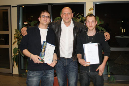 Wayne Stöckl, Meister Martin Oemler und Jan Klauert