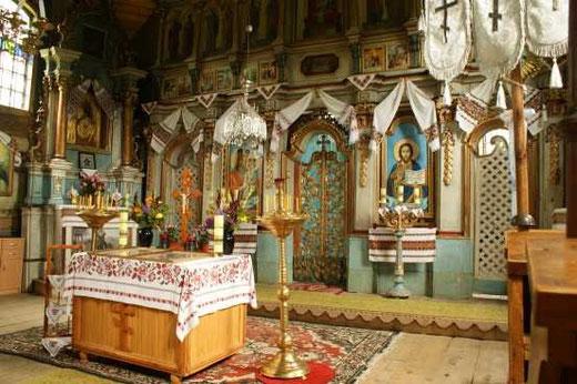 Turzańsk wnętrze cerkwi