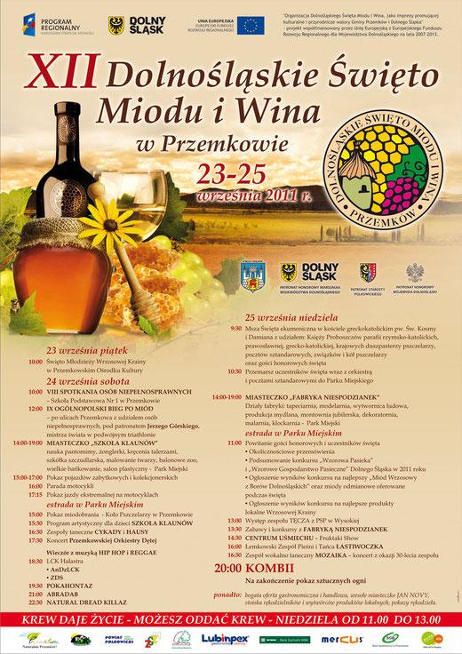 XII Dolnośląskie Święto Miodu i Wina w Przemkowie