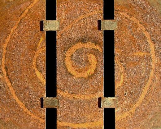 """Rostbilder, hier: Metallbild """"Spirale"""""""