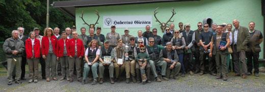 Alle Teilnehmer des jagdlichen Vereinsschießens 2014