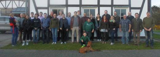 Teilnehmer Jungjäger Kurs 2015 bis 2016 Hubertus Gießen