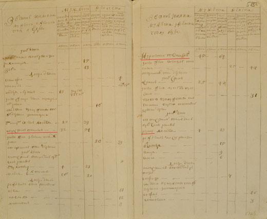 фрагмент переписи 1782г
