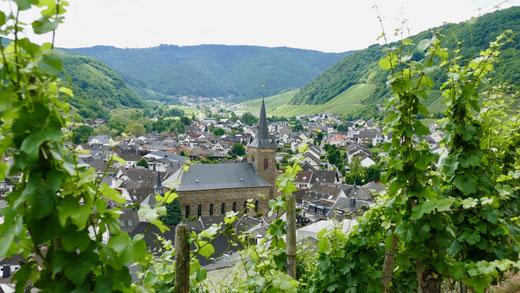 Städtereise Deutschland. Dernau im Ahrtal miss ellies städte und gartenreisen