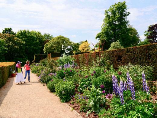 Sehenswürdigkeit englische Gärten Eibenhecken Hole Park Gardens