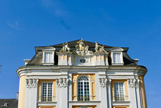 Sehenswürdigkeit Barock Schloss  Augustusburg in Brühl  und die barocke Gartenanlage