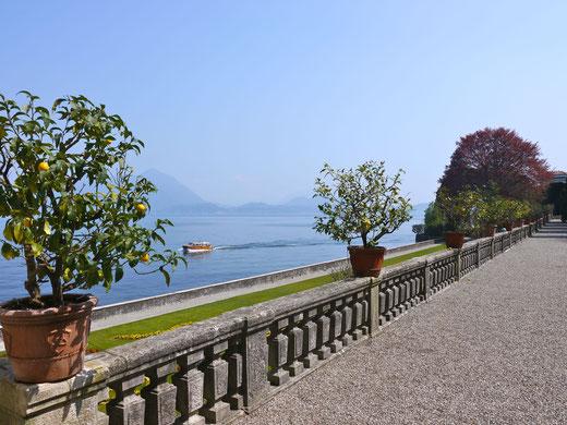 Gartenreise Italien:Palazzo der Borromaer auf der Isola Bella im Lago Maggiore