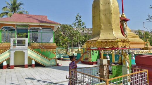 Bild: Pagode in der Nähe des Dorfes Dala bei Mandala in Myanmar