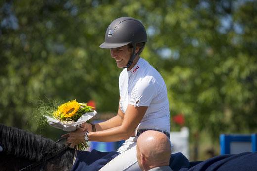 Mit 3 Siegen und einem 2. Rang am Sonntag war Daniela Wüthrich die erfolgreichste Reiterin am diesjährigen Concours Aesch.