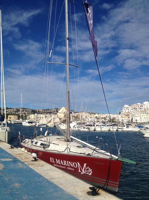 El velero ya está en Moraira. El miércoles a las 12 arranca la competición