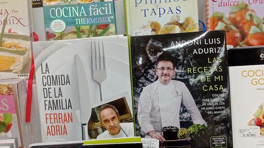 Exposición de libros de cocina