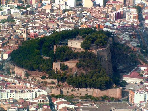 El «Castell de Dénia» con media colina arrancada de cuajo en el siglo pasado