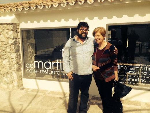 Bati Bordes visitó el restaurante De Martina