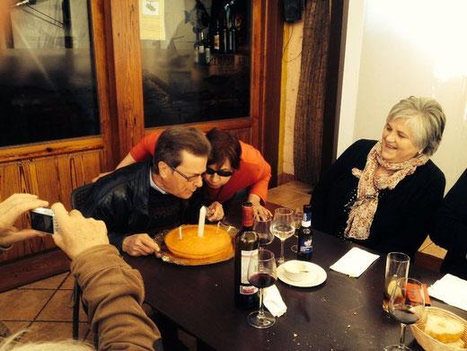 Ani y Pere (segunda generación en El Marino) celebraron sus cumpleaños