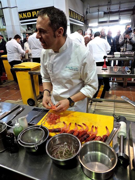 Manuel Alonso preparó un ceviche que encandiló a los miembros del jurado
