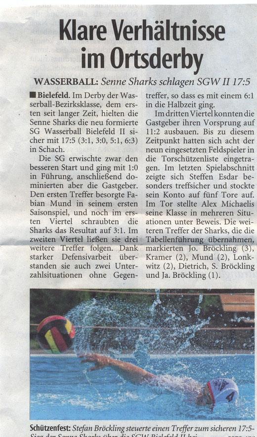 11.12.2014 Senne Sharks - SG Bielefeld