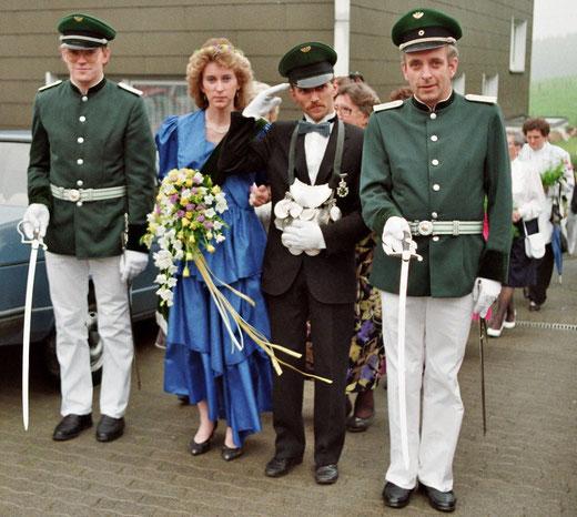 Das 25jährige Jubelkönigspaar Helmut & Olivia Kretzschmar im Jahr 1990