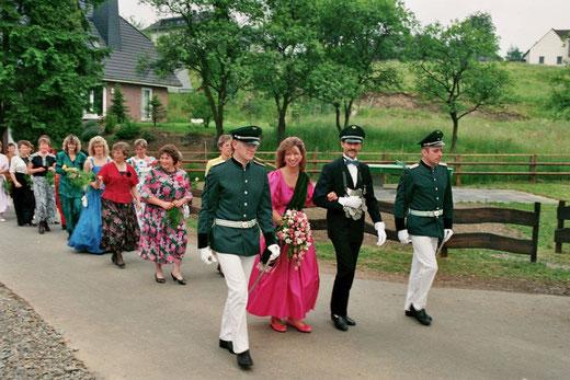 Das 25jährige Jubelkönigspaar Werner & Martina Kretzschmar im Jahr 1989
