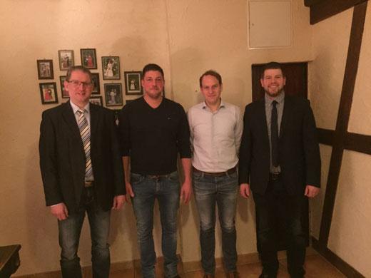Hauptmann Georg Scheiwe, Leutnant Carsten Nies, Leutnant Christian Arens, Major Benedikt Grebe