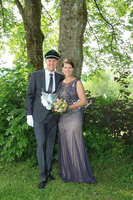Das Königspaar Dr. Sebastian Schröder und Claudia Schlösser