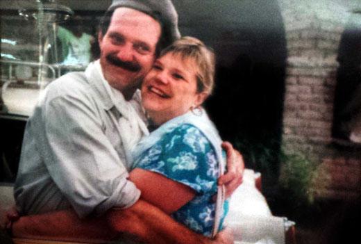 Rachel with her husband Theus Malmberg