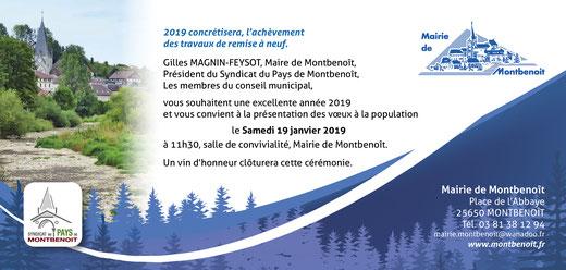 Vœux du Maire Montbenoit Saugeais