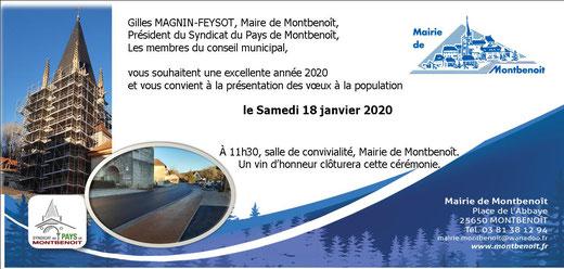 Voeux du Maire Montbenoit 2020