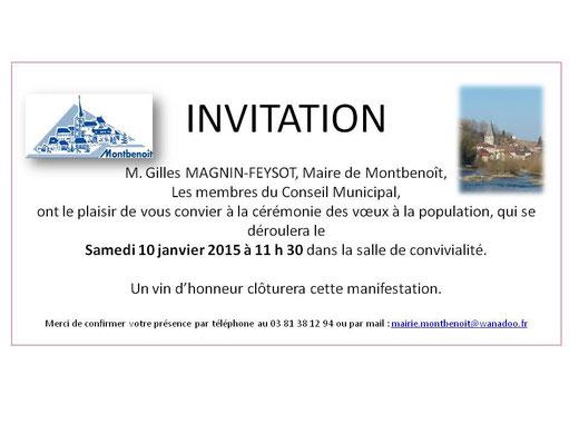 Voeux 2015 Maire de Montbenoît