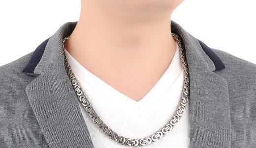 Königskette / Halskette mit Königsketten-Gliederung aus allergiefreundlichem Edelstahl jetzt bei My Bijouterie online kaufen.