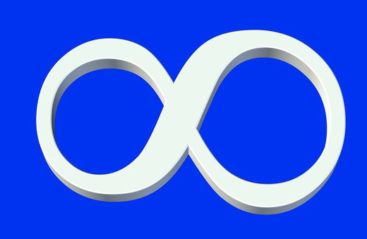 Halskette mit Infinitysymbol, Infinity-Halskette, Infintyarmband, Infinityohrstecker, Schmuck mit Unendlichkeitszeichen